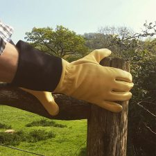 Leather and Canvas Gardening Gauntlets
