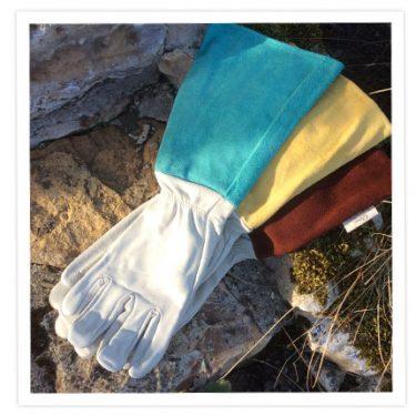 Leather Gauntlet Gloves